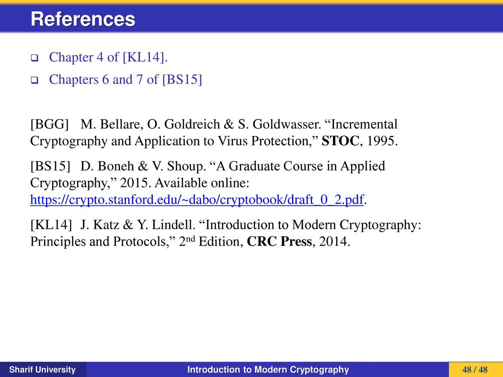 Introduction To Modern Cryptography 2nd Edition Pdf